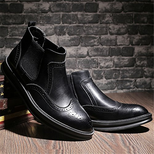 ... Schwarz Stiefel Kurzschaft Freizeitliche Herren Schlupfstiefel Chelsea  Boots Schuhe Rindleder HENGJIA Brogue w4zAv4x ... 6765d5e280