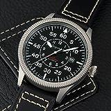 Gigandet Automatik Herren-Armbanduhr Red Baron I Fliegeruhr Uhr Datum Analog Lederarmband Schwarz G8-005 - 2