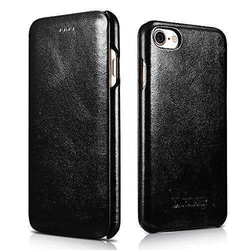 iPhone 8Fall, mangix icarercase [Vintage Classic Serie] Luxus Premium Echtes Leder Fall Back Cover mit [Ultra Slim] für Apple iPhone 811,9cm, ()