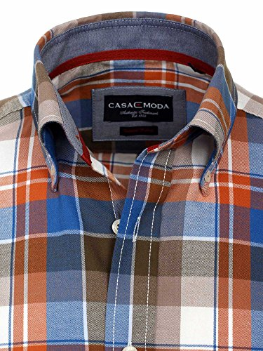 CASAMODA Uomini Camicia per ufficio 431878400 Regular Fit facile da stirare Arancione