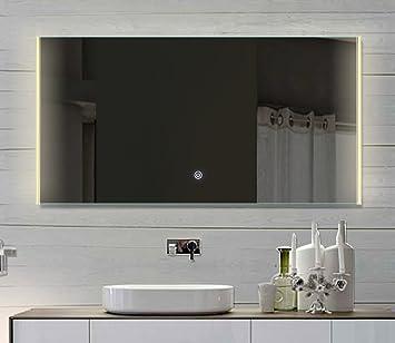 Salle de bains Miroir lumineux LED Interrupteur tactile lumi¨re