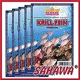 SAHAWA® Frostfutter 5x100g Blister Krill fein ,verpackt mit Trockeneis, Zierfischfutter, Süßwasser, Discus, Barsche, Guppys, Rote Mückenlarven (Krill fein) ,Aquarium