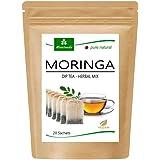 MoriVeda® Moringa Oleifera Dip-Tea Herbal Herbal Mixture, 20 bolsas I 100% vegano, sin fructosa y sin gluten I Certificado po