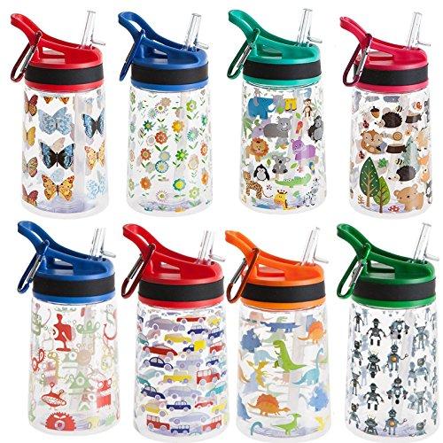 350ml Wasserflasche für Kinder, BPA-frei, verschiedene Designs für Mädchen und Jungen, wiederverwendbare Trinkflasche, ideal für Schule, Reisen, Tagesausflüge oder Zuhause., blue monsters (Monster Aus Inc Mädchen)