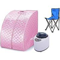 Sauna pliable cabine, Sauna infrarouge portable,Personal Spa at home Perspiration Perdre du poids avec le contrôleur de température à distance 98x80x70cm (Rose)