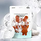 MINISO Tencel Soft Lock in Moisture Compressed Facial Masks Sheet for Women, 40 Pieces