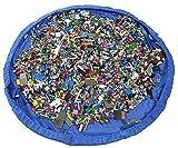 VStoy Die Matte zum einfachen Spielen und Aufräumen - mit einem Schwupp zur Umhängetasche - Ideal für das schnelle Aufsammeln von Legos, Dupla, und weiterm Spielzeug! (Größe - 150cm)