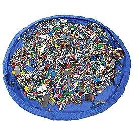 VStoy Il tappetino per giochi semplici e per la bonifica – con Schwupp a bag – ideale per un veloce la raccolta Lego…
