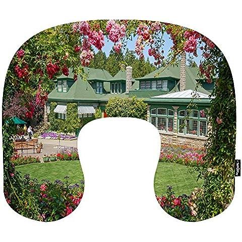 i FaMuRay Cuscino da Viaggio per Cervicale a Memoria di Forma di U Cuscino Butchart Gardens Theme