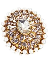 Day Traditional & Ethnic Gold Plated Finger Ring For Women (Adjustable, Golden ) - B077KP4QHN