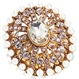 #8: Day Traditional & Ethnic Gold Plated Finger Ring For Women (Adjustable, Golden Stone)
