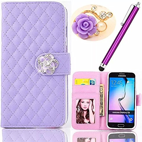 vandot-3-in1-set-lady-phone-case-lattice-grid-quilted-cover-for-htc-one-m7-wallet-pu-leather-card-co