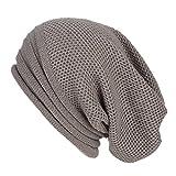 Kinlene Hombres Mujeres Baggy Cálido Crochet Invierno Lana Esquí Beanie Skull Slouchy Gorras Sombrero