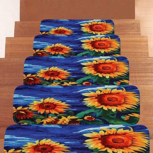 Textilfaser - Stufenmatten,Stufenmatten Kleinformat Für Raumspartreppen/Wendeltreppen(22 X 70 cm) (Size : 5 Pieces)