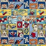Fabulous Fabrics Jacquard Gobelin Comic – blau/rot —