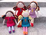 Best Poupées Rag - Imajo Powder Puff Poppy rag doll (RED Dress) Review