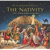 Caspari Entertaining with Caspari Christmas Advent Calendar and Story Book, Nativity