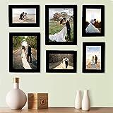 Bajarang Creations Set of 6 Individual Black Wall Photo Frames || Mix Size || (2 Units of 6 X 8, 4 Units of 4 x 6…