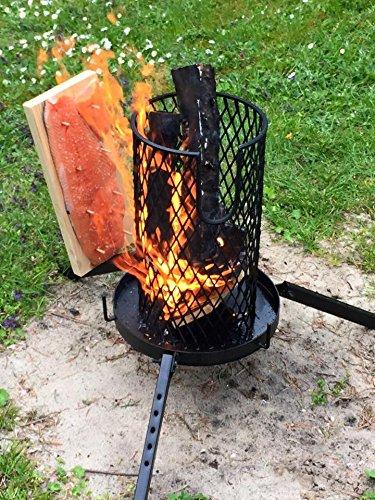 Flammlachs-Feuerkorb mit Zubehör - 5
