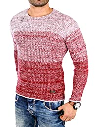 Reslad Strickpullover Herren Color-block Winter Pullover RS-3106