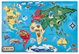 #9: Melissa & Doug 446 World Map Floor Puzzle (33 Piece)
