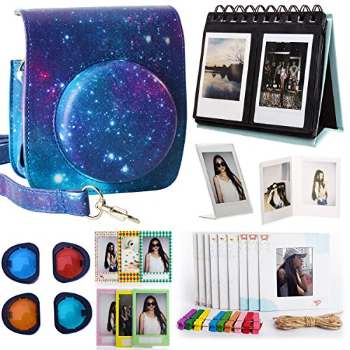 Woodmin Fujifilm Instax Mini 90 Immediata Camera Accessories Bundle Galaxy (Mini 90 casi/scrivania album/Arredo Cornici/Film Adesivi/filtri/Foto sacche)