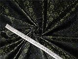 Seide Brokat Stoff grün, braun X schwarz Farbe 111,8cm