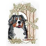 Spitze Plauner 18 x 25 cm de encaje de Navidad para ventana de fotos de madera de perro/cairel