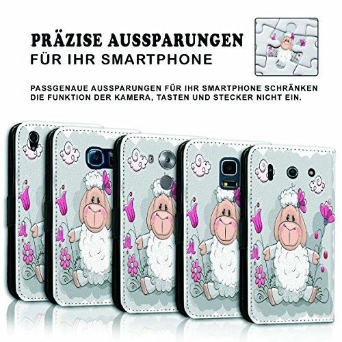 Wallet Book Style Flip Handy Tasche Case Schutz Hülle Schale Motiv Etui für Apple iPhone 5 / 5S - Variante UMV19 Design12 Design 10