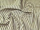 Inlett Streifen gewebt Baumwolle Möbelstoff, Meterware, Kamel