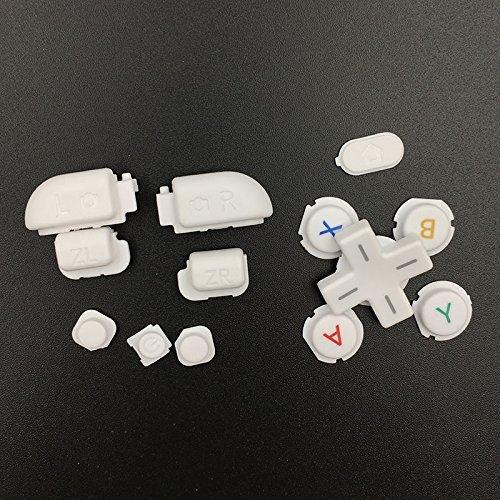 Ersatzknöpfe für Nintendo 3DS XL LL Weiß R & L Zr ZL Button Teile D Pad (Oberfläche in Home Power Button Set