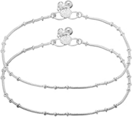 Charms Anklet for Women (Silver)(cr301ef)