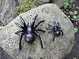 2er Set Spinne Gusseisen / Haus u. Garten Deko *Tarantel* Skulptur / Wanddeko