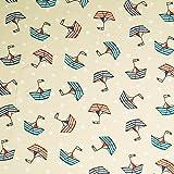 Sailor Jersey Stoff - maritimer Print - Boote & Punkte -