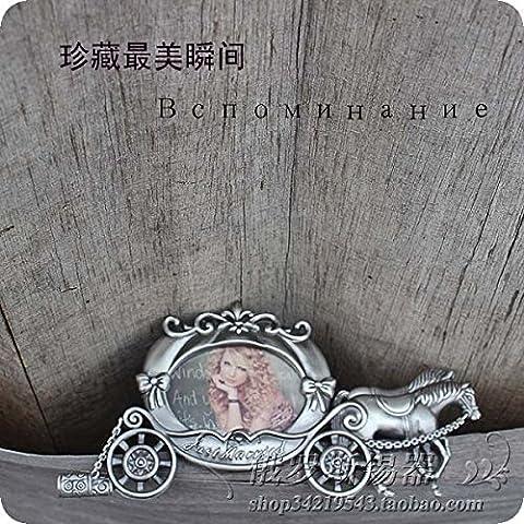 Russischen klassischen Zinn Bilderrahmen Zinn Bilderrahmen Fotorahmen Continental retro kleinen Wagen Cinderella Kurbis Auto