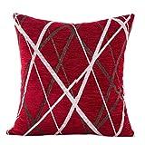 Kavitoz Kissenbezüge Plüsch Ray Streifen Zierkissenbezug Sofa Home Dekor Throw Kissen Cover (Rot)