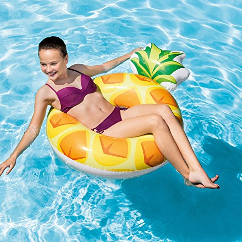 Intex - Ananas Gonflable Tranche, 9556266, Jaune, 117x86cm