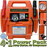 Streetwize 12v 900 Amp Portable Car Battery Booster Jump Starter Power Pack Station With Air Compressor *** New Orange Colour Model ***