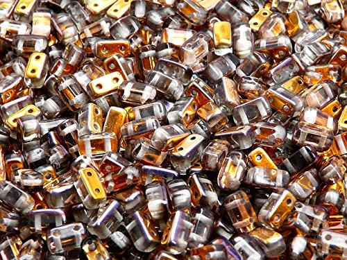50pz-3x6mm-brick-beads-czech-perle-di-vetro-pressato-rettangolare-con-due-fori-crystal-santander