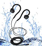 Waterproof headphones for swimming, flexible innovative memory part to fit Swimmer,Runner,Rider,Diver and Surfer(Only waterproof headphones without MP3 player)