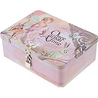 Cabilock Boîte De Rangement en Fer Blanc avec Cadenas Rétro Style Cartouche D' étain de Bonbons Au Chocolat Thé Café…