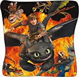 United Labels DreamworksDragon Kissen 40cm x 40cm, Flamme,schw (0120145)