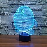 3D Illusion Lampada Pinguino Led Night Light con 7 colori Lampeggiante e Touch Switch USB Powered Camera da letto Lampada da tavolo per i bambini Regali Decorazione della casa