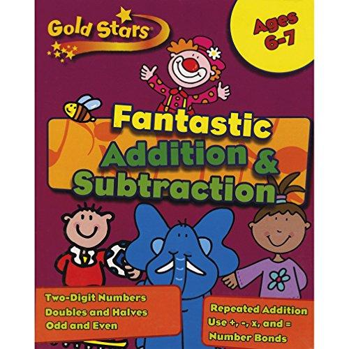 Gold Stars KS1 Addition and Subtraction Workbook Age 6-8 (Gold Stars Workbook Packs)