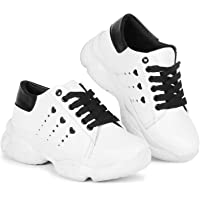 KRAFTER Girls Casual Chunky Sneakers Shoes for Women and Girl's Walking Shoes