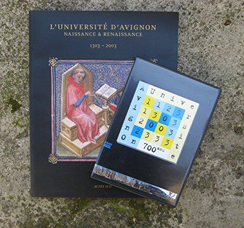L'universit D'avignon - Naissance & Renaissance 1303-2003 LIVRE + DVD
