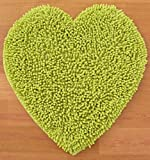 Raya Home 2 Piece Bathmat-Doormat - 40x60x1 CM-Heart Shape Bathmat Green