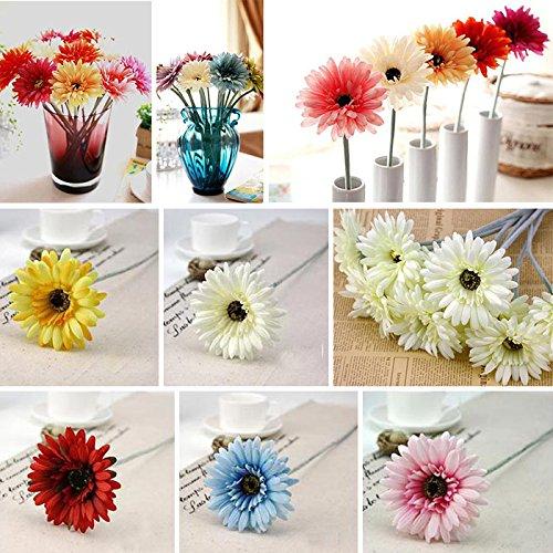 Alcoa Prime Home Silk Gerbera Daisy Flower Decor Wedding Party Garden Decoration Artificial Sunflower African Chrysanthemum Bouquet Plants