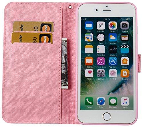 Iphone 7 Plus Coque silicone, Iphone 7 Plus Case Cuir, Iphone 7 Plus Accessoire apple, Coque Iphone 7 Plus silicone, Nnopbeclik® à Rabat Fonction Wallet/Portefeuille en Bonne Qualité PU Cuir Housse (5 hibou