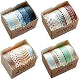 Washi Tape Set plakband, papier, decoratief, maskeertape voor scrapbooking, knutselen, knutselen, schoolbenodigdheden (20 rol